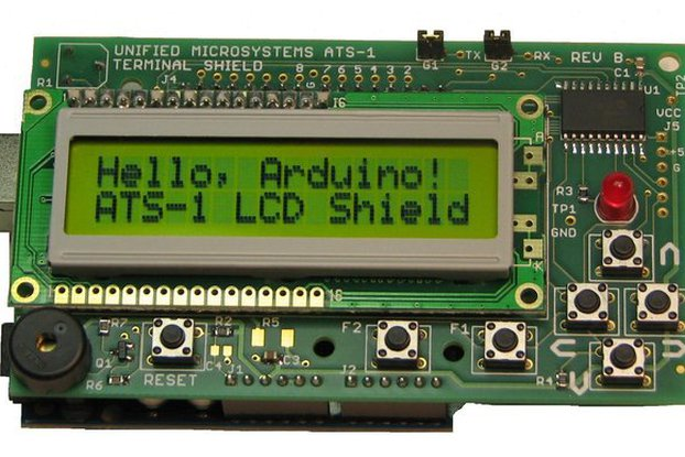 ATS-1: LCD Terminal Shield for Arduino