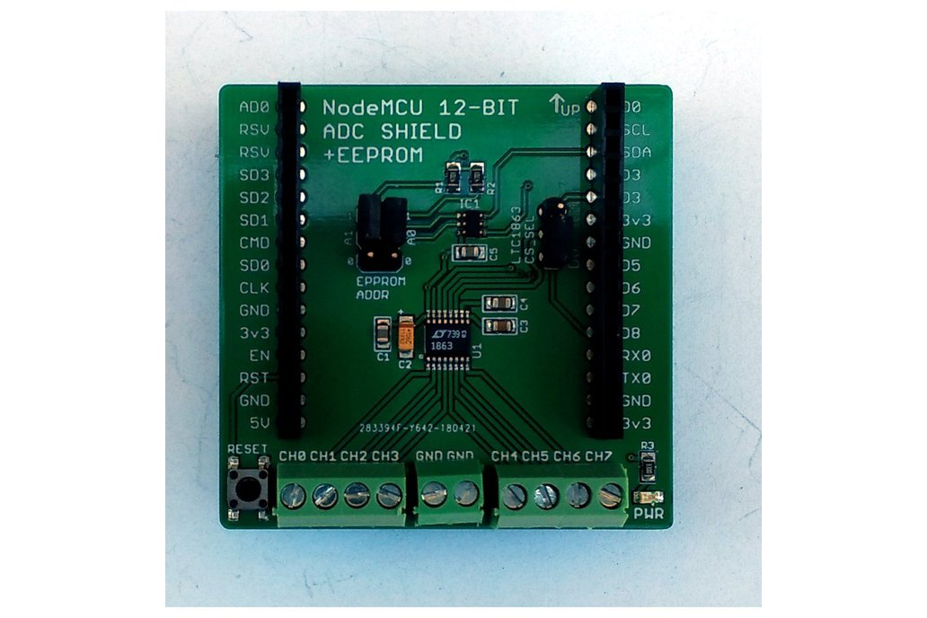 12-Bit/8-Chan ADC w/EEPROM for Wireless Dev Board 1