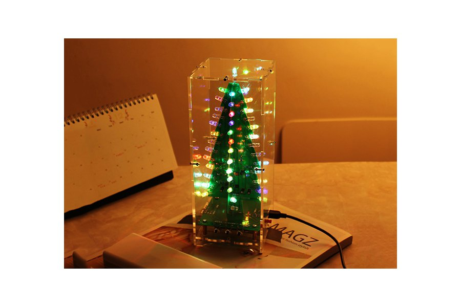 DIY Xmas Tree RGB Flash Light Support MP3(12368)