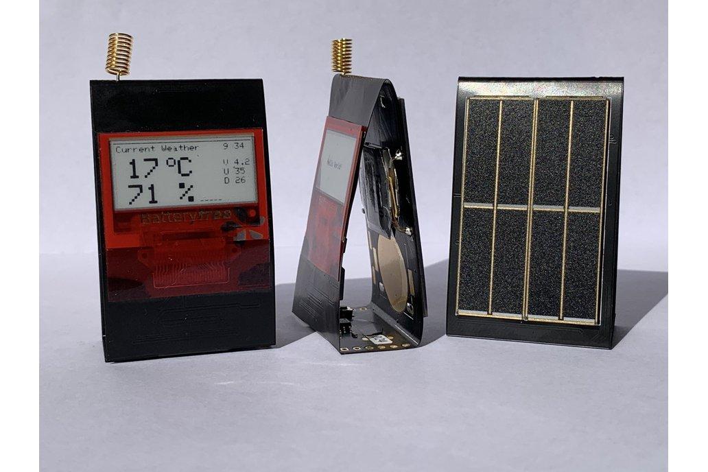 PaperiNode - Solarpowered E-Paper Node for LoRaWAN 1