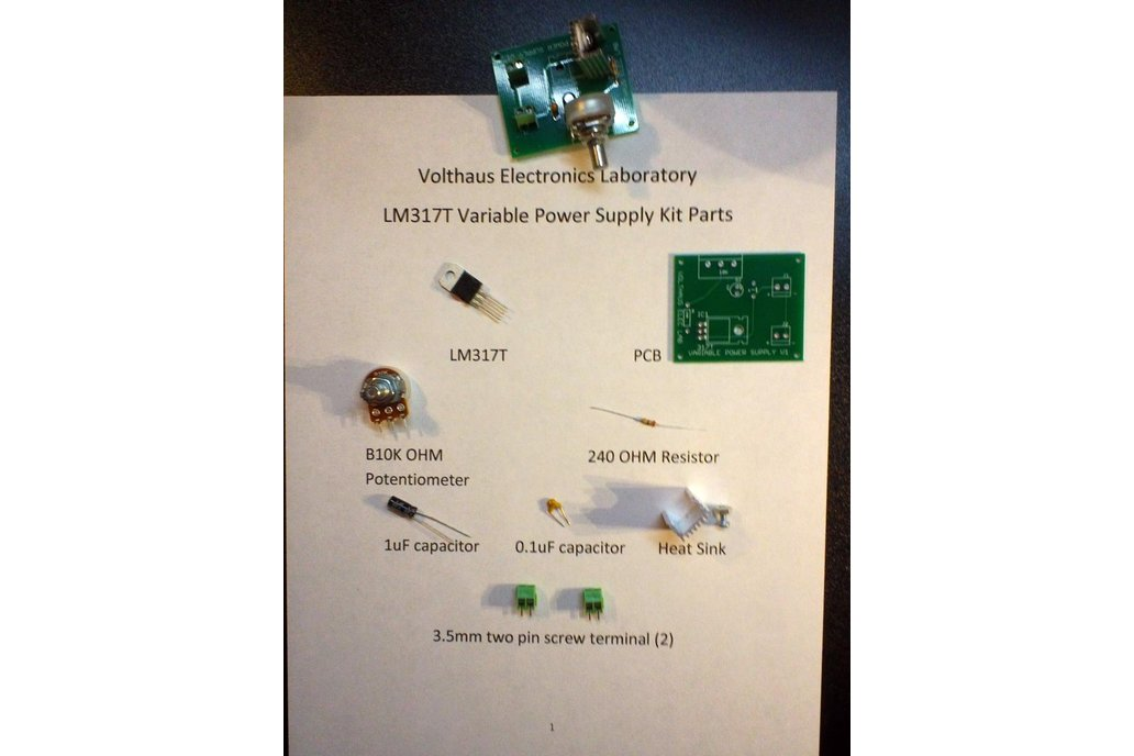 LM317T Variable Power Supply Kit 5