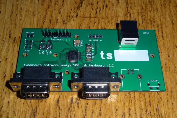 USB conversion kit for Amiga 500 keyboard