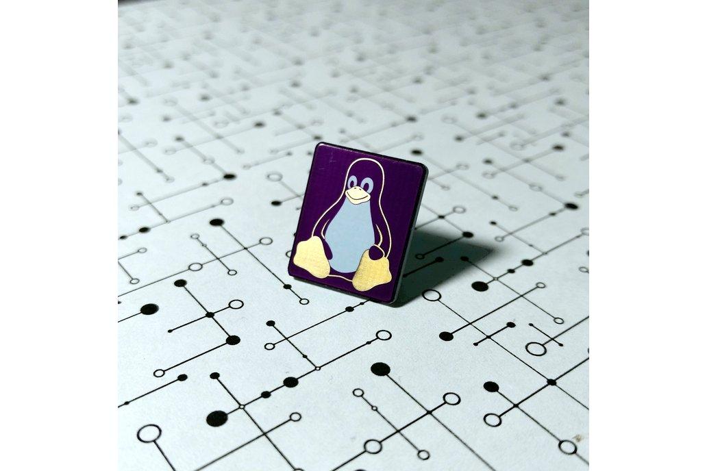 Linux Tux Penguin PCB Lapel Pin 1