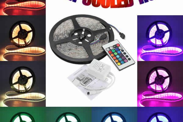 5M 5050 RGB Waterproof 300 LED Strip Light 12V DC