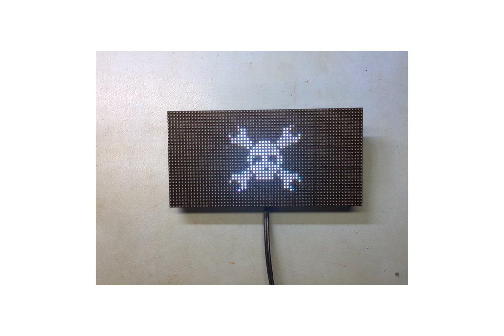 64x32 RGB Led Matrix ESP8266 Driver Board 6