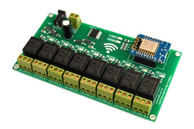 WIFI 8 Channel Electromagnetic Relay Module