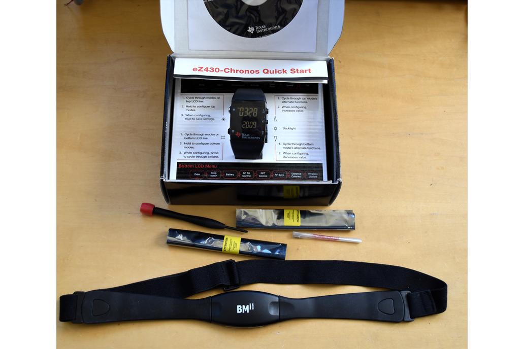 TI Chronos eZ430-Chronos plus heart rate strap 1