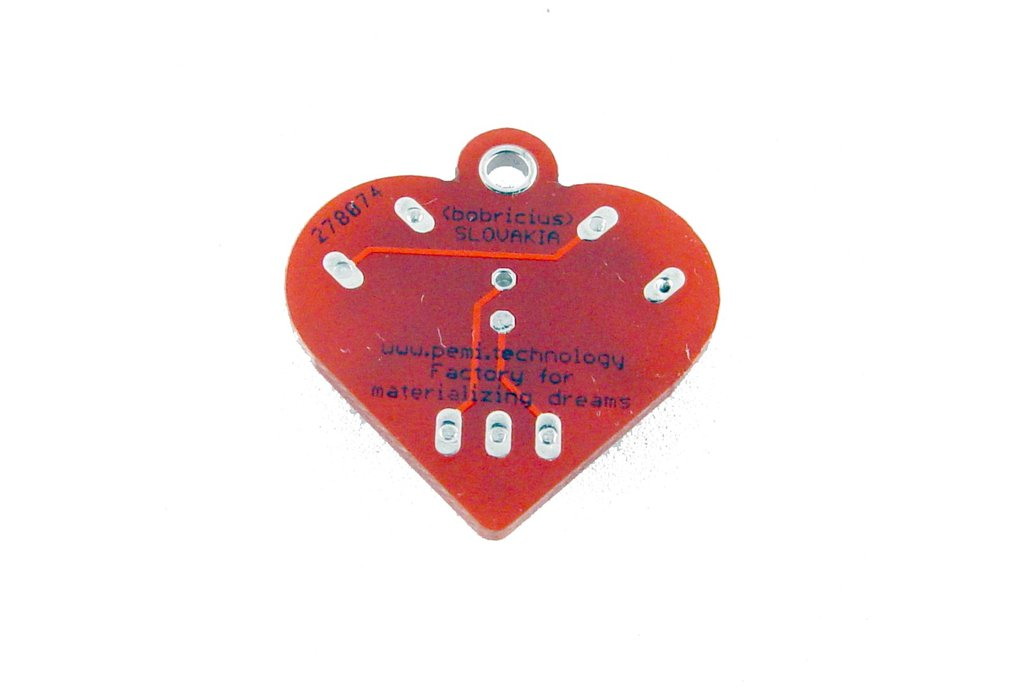 Solar powered flashing LED heart earrings 3