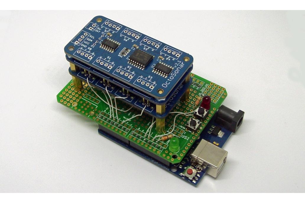 Octosonar - connect 8 x HC-SR04 to Arduino 6
