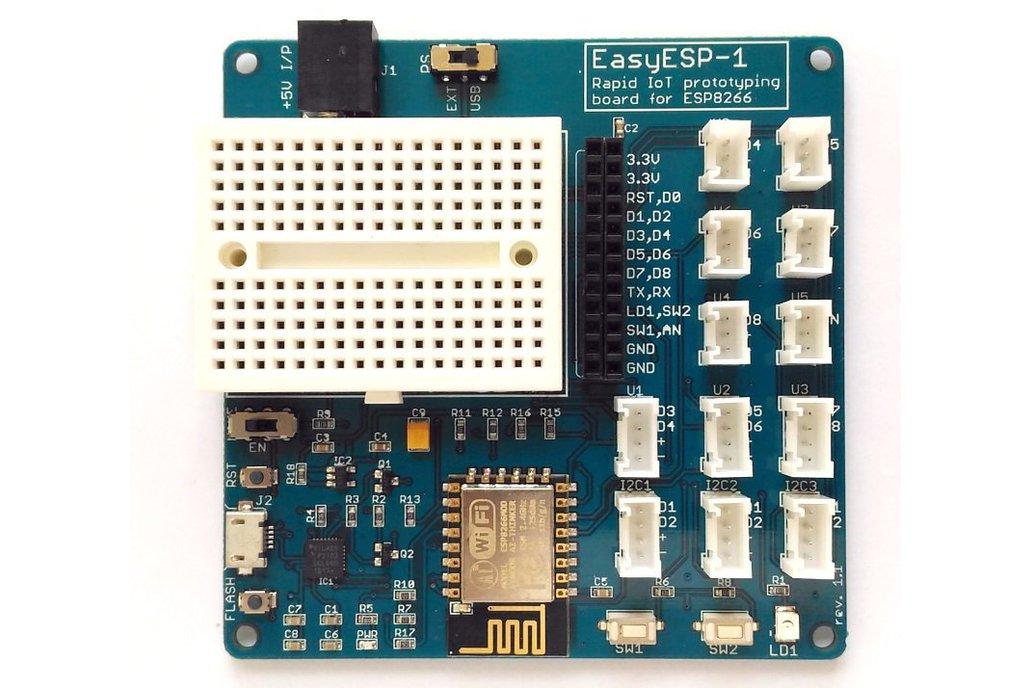 EasyESP-1: A rapid development board for ESP8266 2