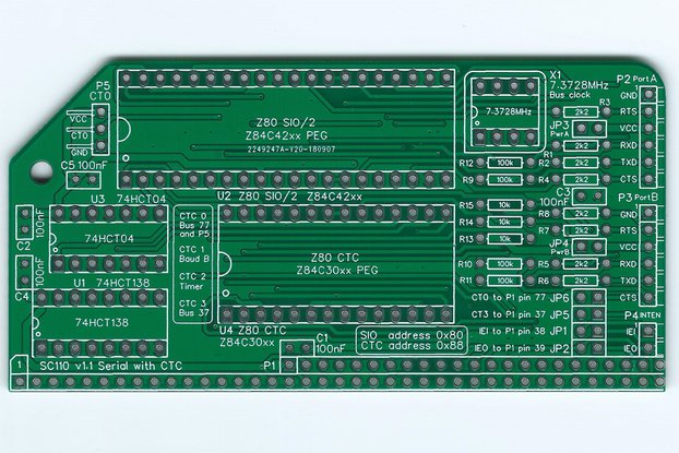 SC110 Z80 SIO/2 & CTC Board for RC2014
