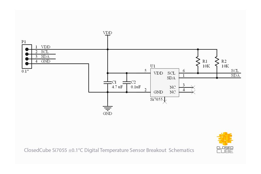 Si7055 ±0.5°C (max) Digital Temperature Sensor 4