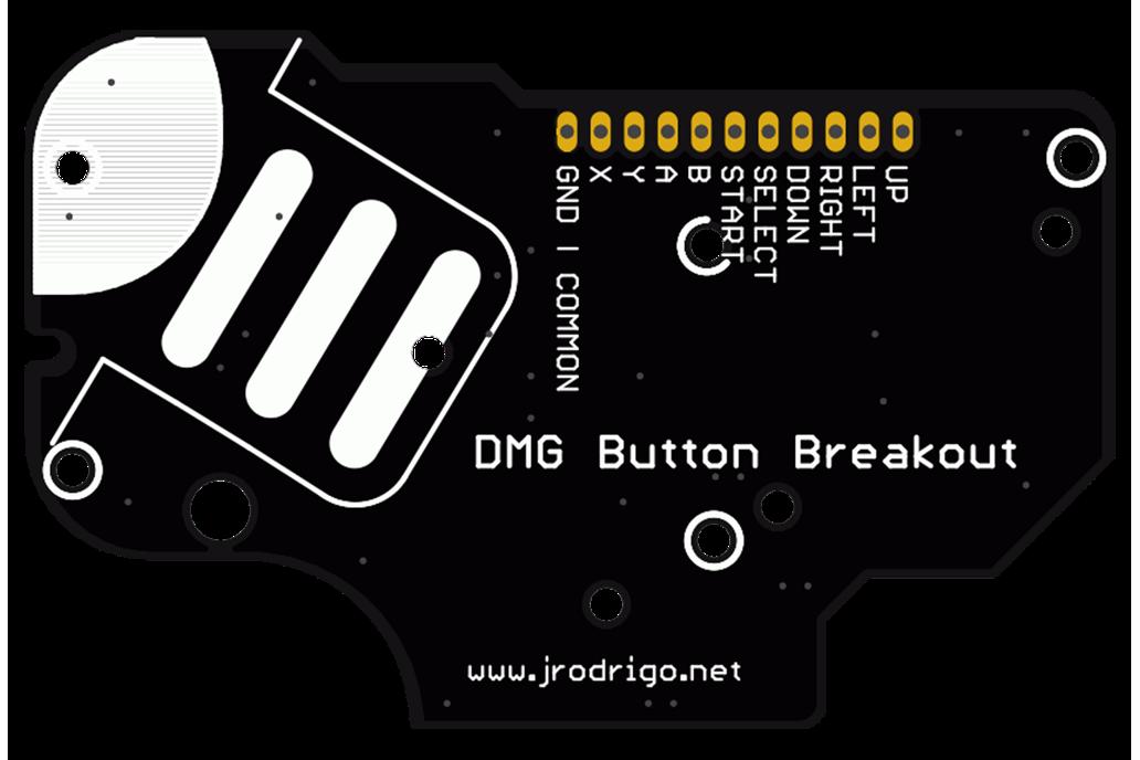 DMG Button Breakout PCB for Game Boy Mods Zero
