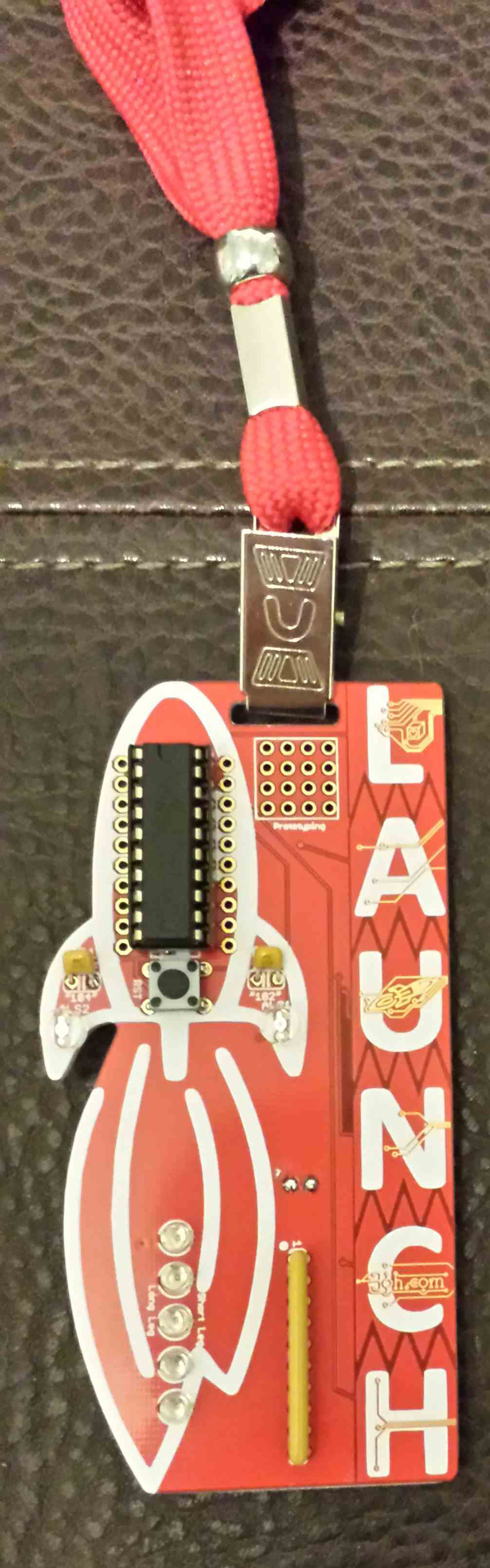 Msp430 Rocket Badge Learn To Solder Microcontrollers From Build A Blinky Smt Kit Wayne And Layne 1
