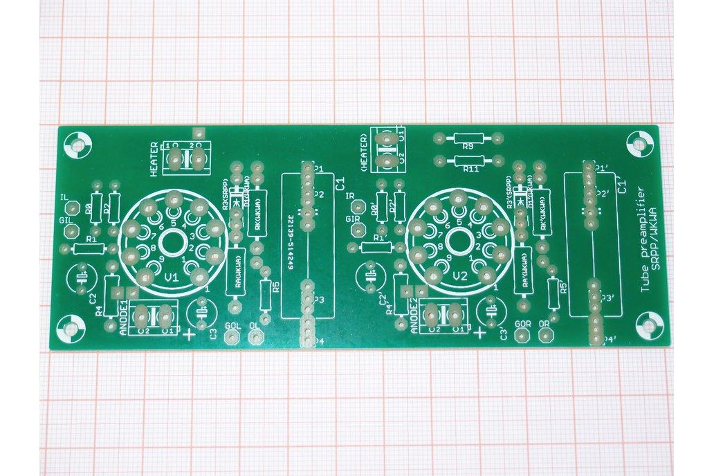 Universal PCB for tube pre SRPP/CCDA ECC88 ECC82 1