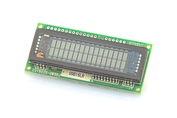 16x2 Serial/Parallel VF Display