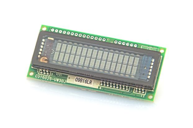 16x2 Serial/Parallel VF Display