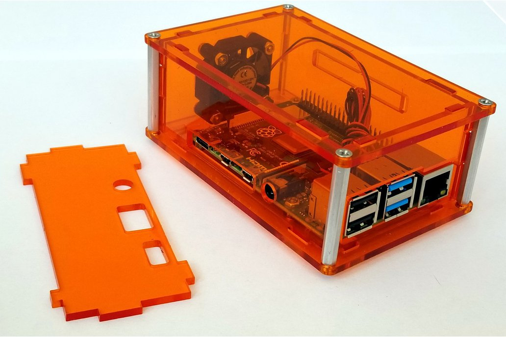 Raspberry Pi 3/4 enclosure with rear fan 1