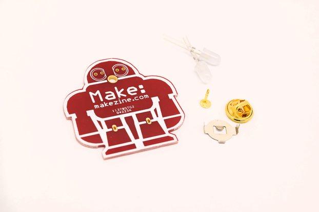 5pcs DIY makezine badge kit learn to solder