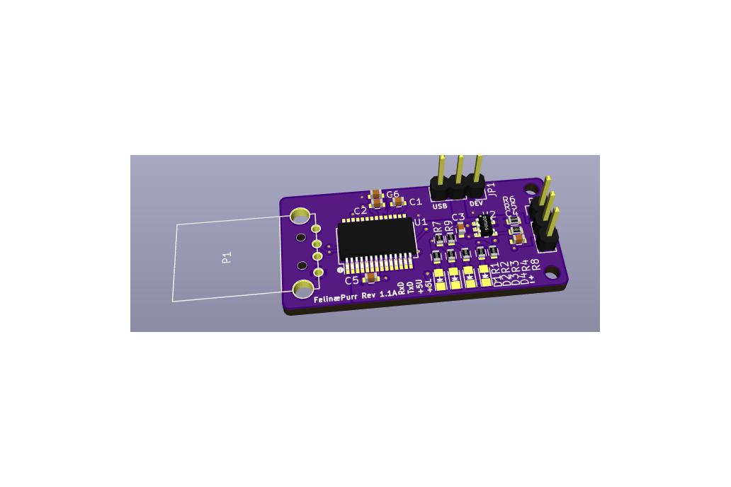 FelinæPurr - Rev 1.1 - USB A 1