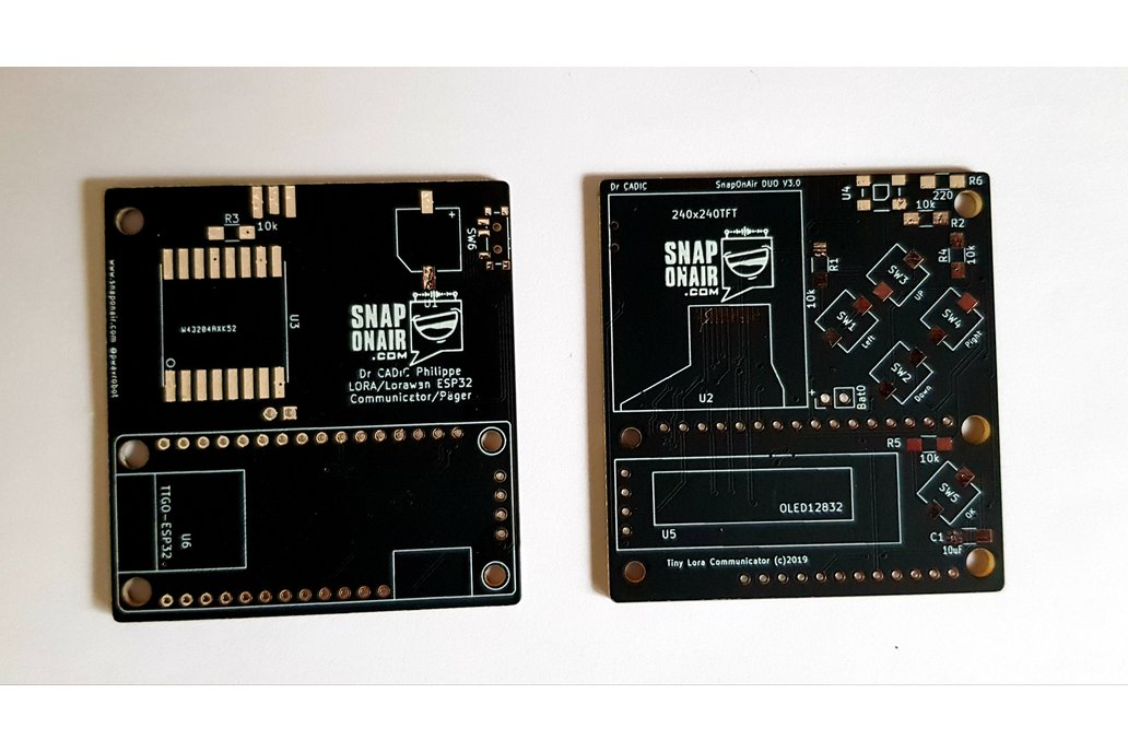 Dual Display LORA Pager with ESP32 (PCB ONLY) 1