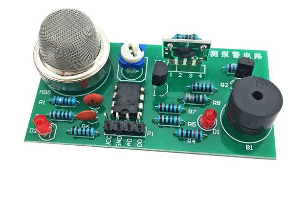 DIY Kit MQ-2 Smoke Sensor Detector (13610)