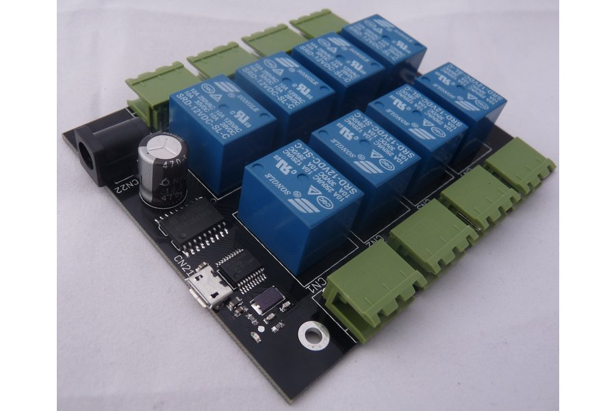 8-channel relay board for Raspberry Pi and Arduino