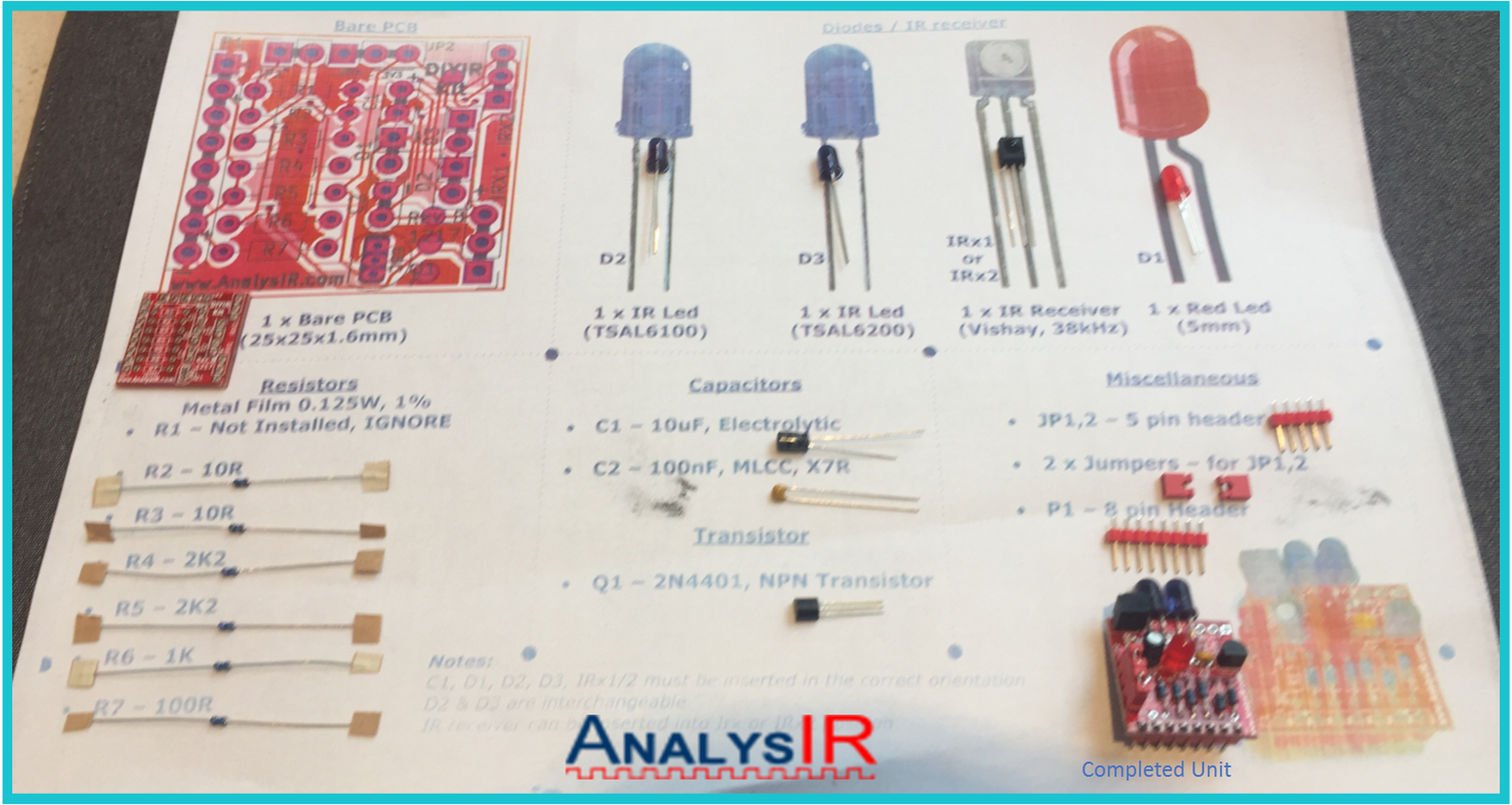 Diy Ir Soldering Kit For Infrared Remote Control From Analysir Transmitter Circuit Remotecontrolcircuit 4