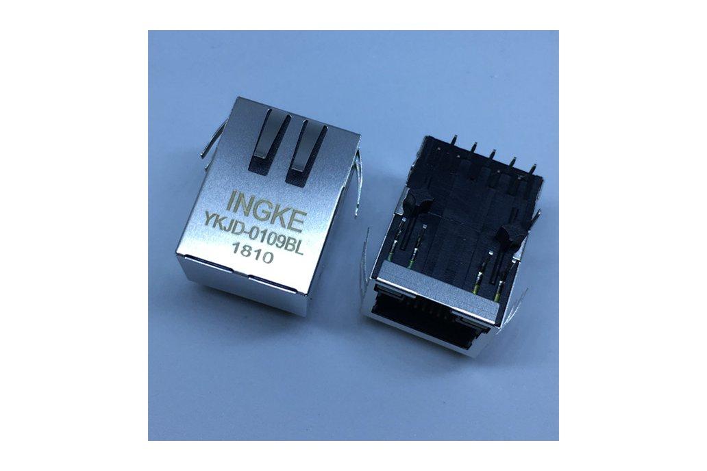 7499211122A YKJD-0109BL RJ45 Magnetic Modular Jack 1