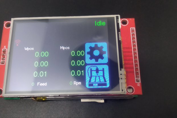 """Universal GRBL CNC Pendant with 2.8"""" touch screen"""