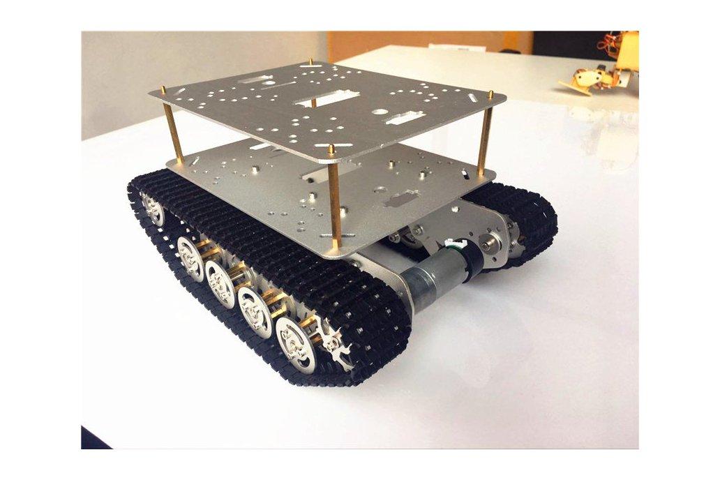 Double Panel Metal Shock Absorption Robot Tank Car 1