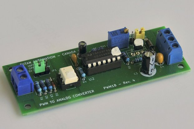 Isolated 1, 2 or 3 channel PWM to Analog Converter