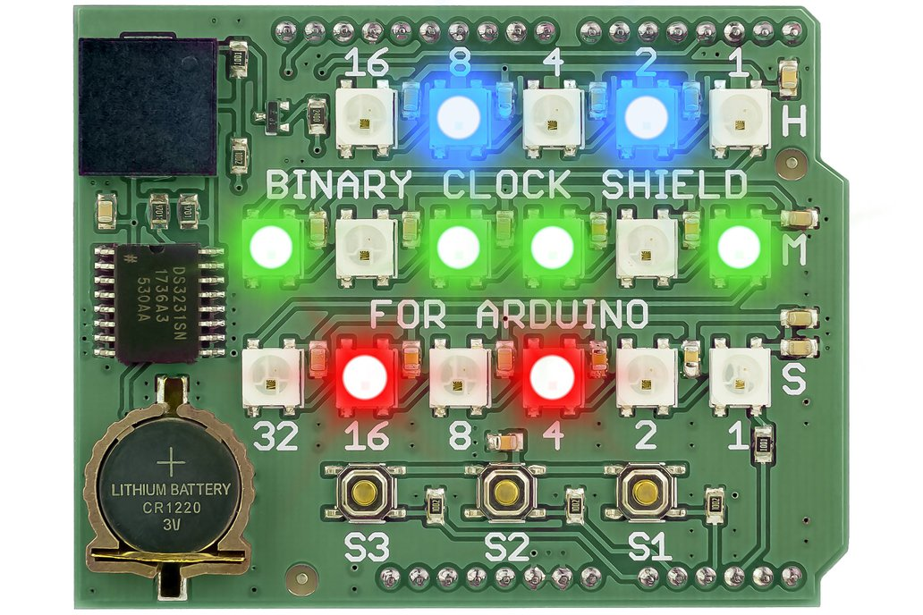 Binary Clock Shield for Arduino 1