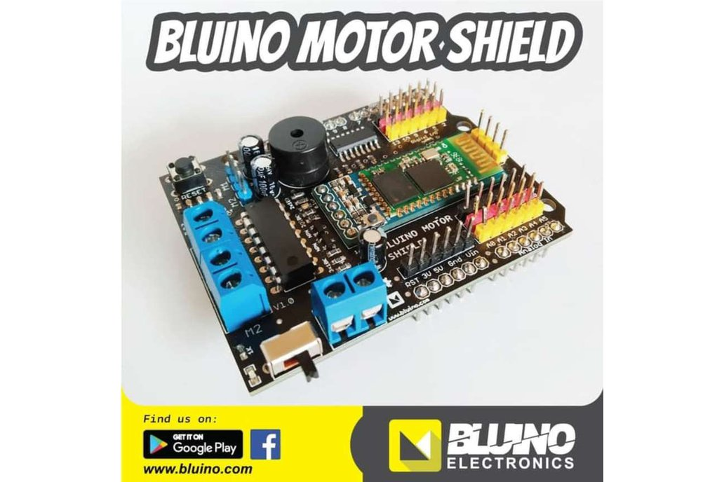 Bluino Motor Shield Arduino - SMARS robot 1