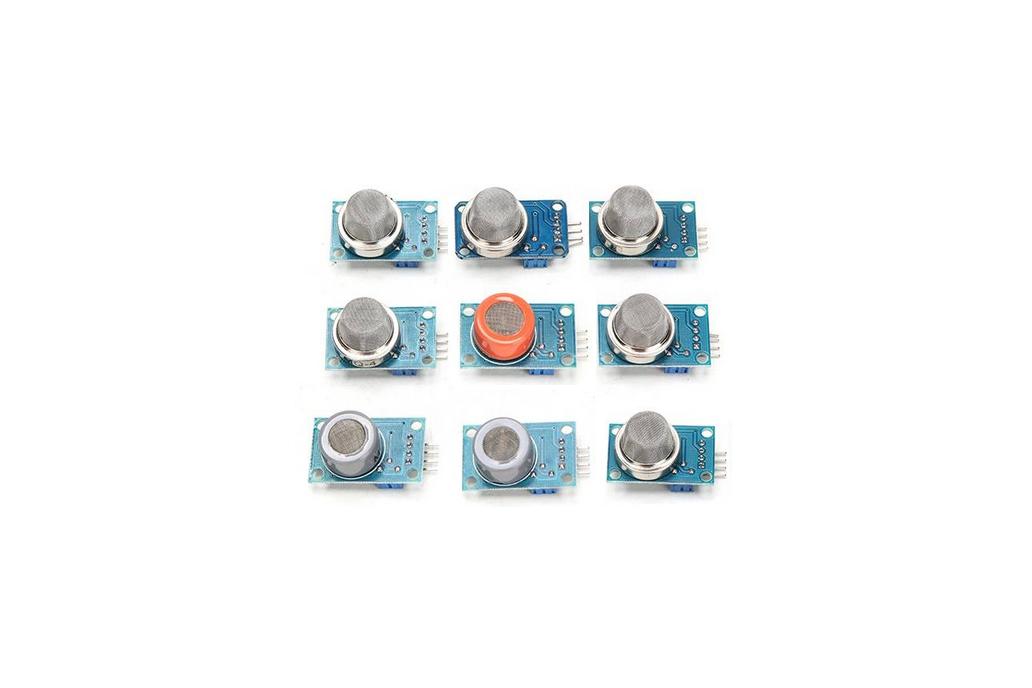 Kit of 9 Gas sensors MQx 1