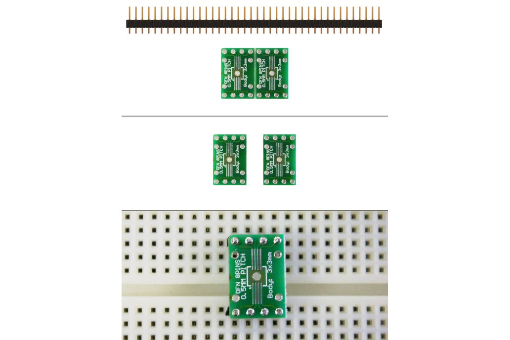 SchmartBoard|ez 0.5mm Pitch 8 Pin DFN to DIP adapter 1