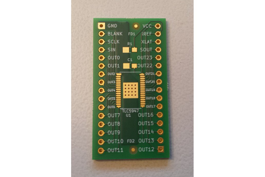 Breakout TLC5947 LED driver or other 32-pin TSSOP 4