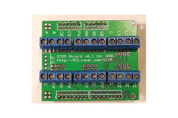 ST25 - Arduino GRBL Screw Terminal Board w Arduino