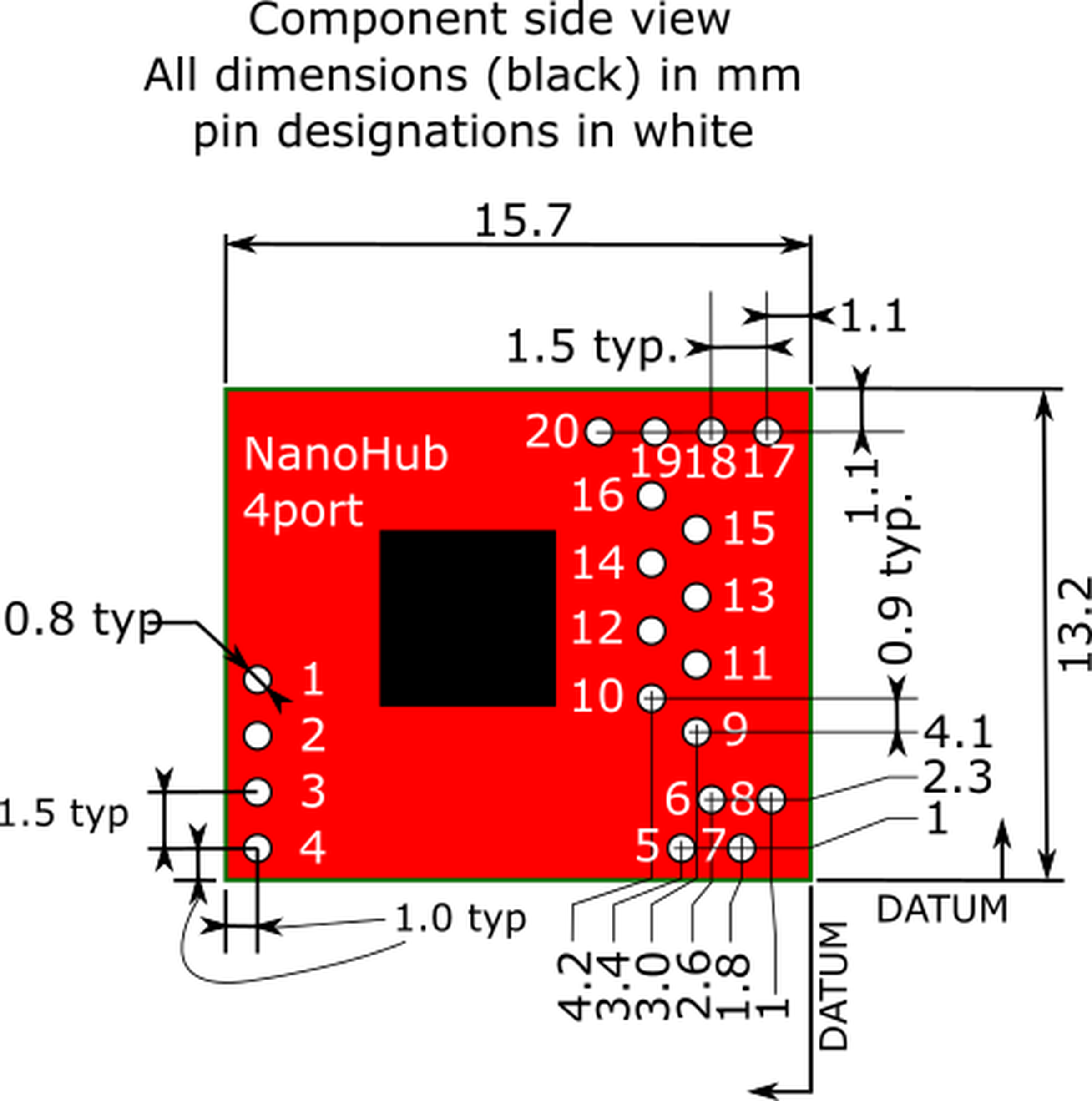 4 Port Nanohub Tiny Usb Hub For Hacking Projects From Muxtronics Splitter Schematic