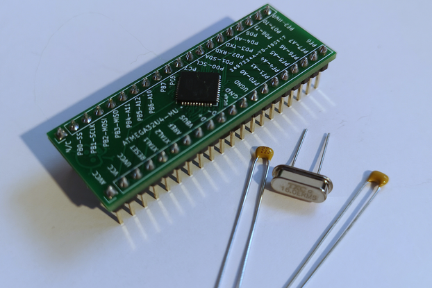 Arduino ATMEGA32U4-MU Breakout Board - Nakeduino