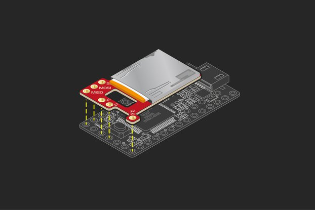 Teensy 3.x/LC slim micro SD card adapter