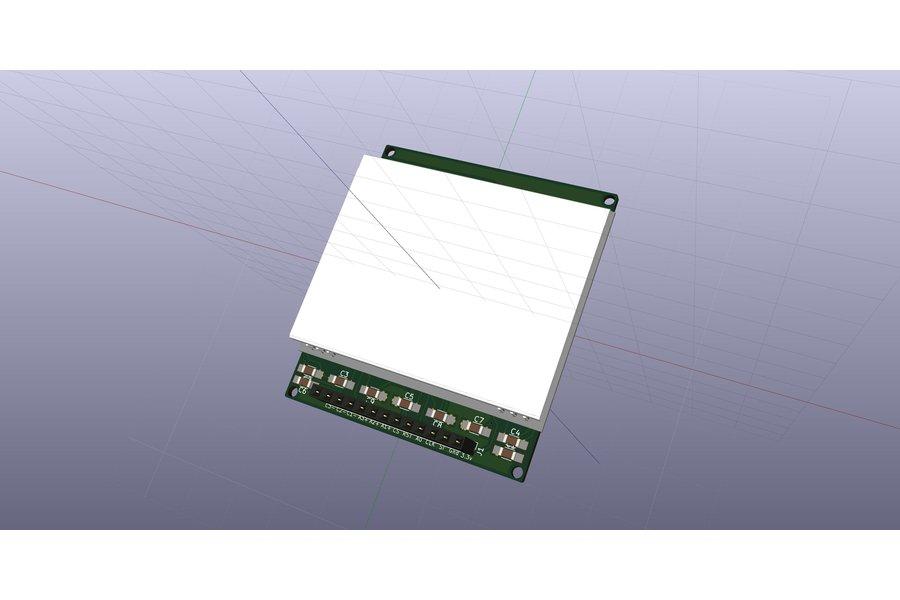 AE DOGM-128 Display holder, breadboard compatible