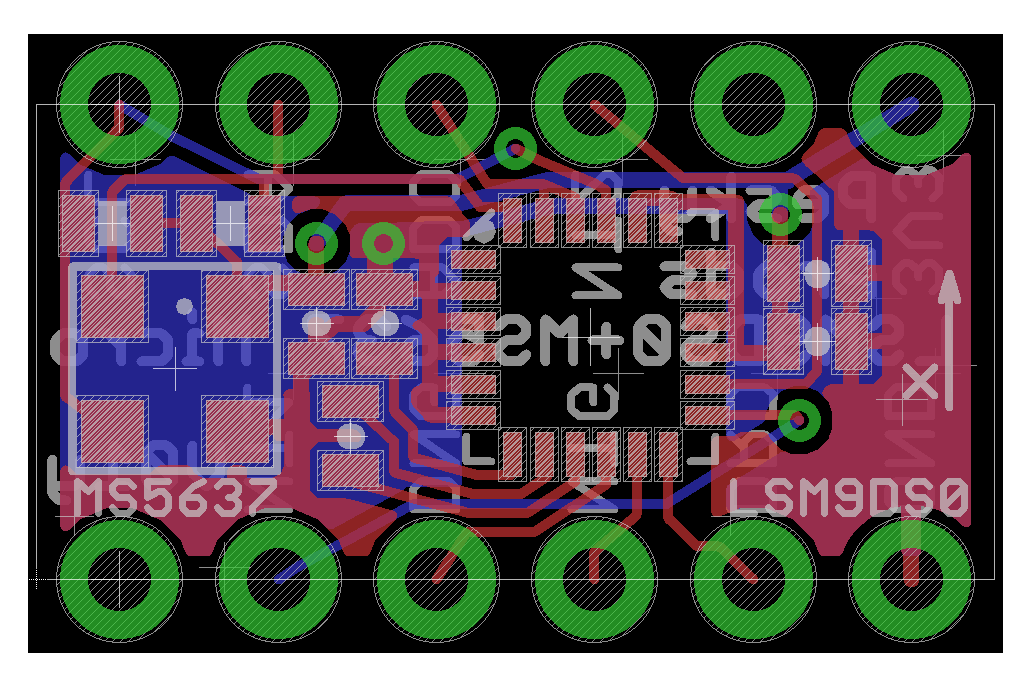 LSM9DS0 Teensy 3.X Micro Shield 4