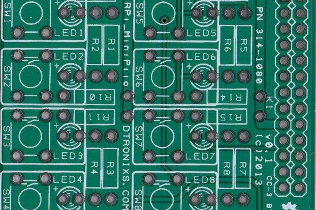 Raspberry PIIO - MiniPiio SimpleI/O add-on board
