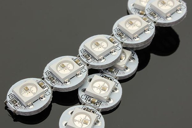 50Pcs DC 5V 3MM x 10MM WS2812B SMD LED