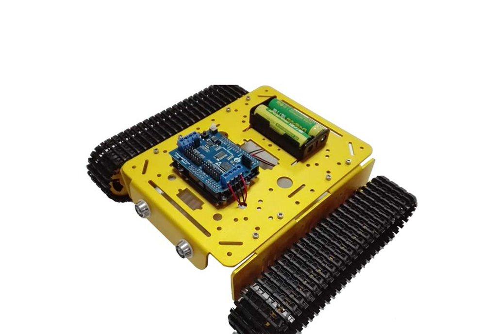 Arduino wifi Metal T200 Crawler Tank 8