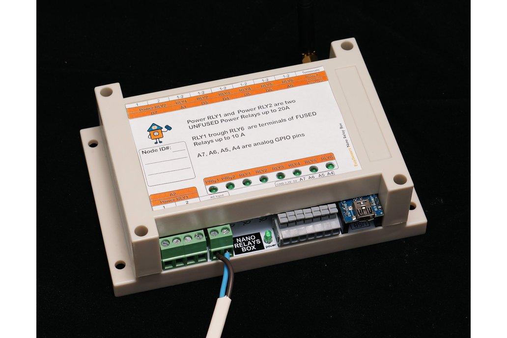 Arduino Nano 8 Relay Board wireless RFM69/95 NRF24 1