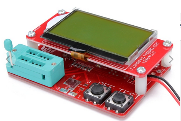 Small M8 12864 LCD MEGA328 Transistor Tester Capacitance ESR Meter Diode Triode MOS/PNP/NPN LCR
