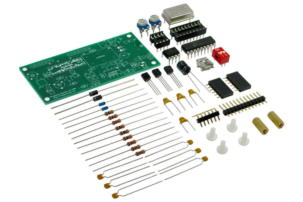 Frequency Counter DIY Kit w/LCD 10Hz-250MHz 1