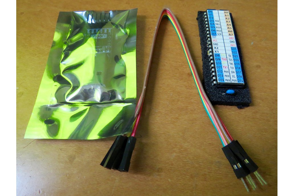 """Minimal and self-contained ATmega1284P """"mod chip"""" 1"""